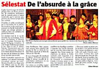 Sélestat, de l'absurde à la grâce (article de L'Alsace)
